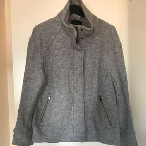 Banana Republic Grey High Collar zippered coat